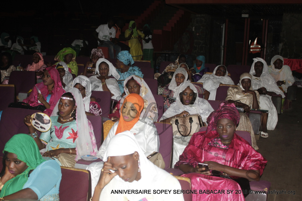 PHOTOS - 15 OCTOBRE 2016 AU CICES - Les Images de l'anniversaire de l'association Sopey Serigne Babacar Sy, présidé par Serigne Sidy Ahmed Sy Al Amine et Serigne Issa Touré