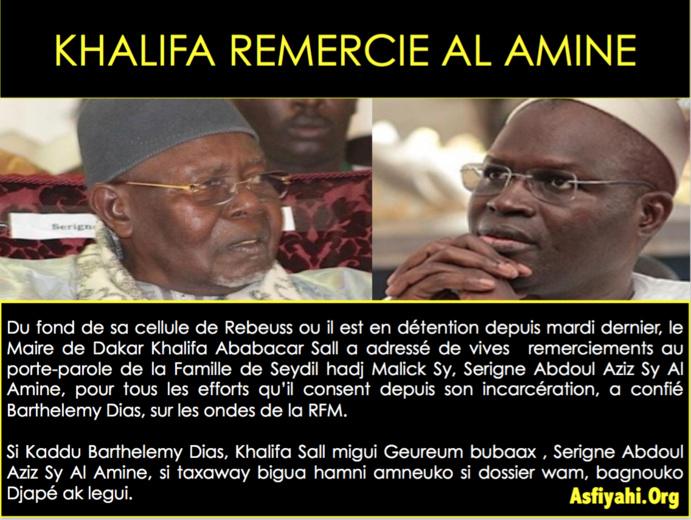 """""""Tivaouane n'est en colère ni contre Khalifa ni contre Macky"""""""