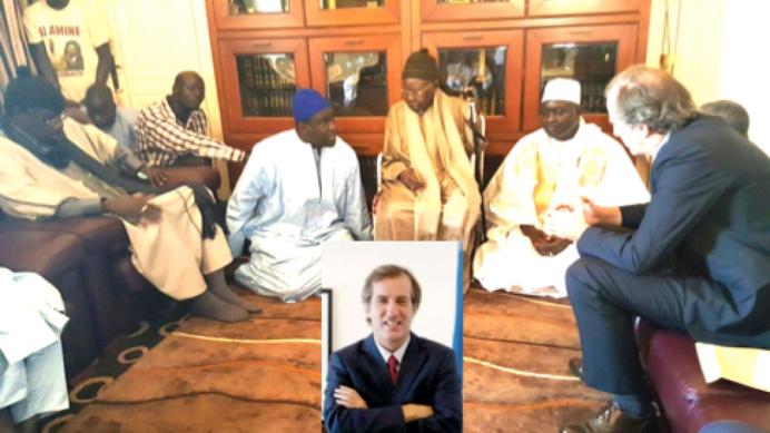 RAPPEL À DIEU D'AL MAKTOUM: L'Ambassadeur de France au Sénégal, Son Excellence Christophe Bigot a présenté ses condoléances au nouveau Khalife Serigne Abdou Aziz Sy AlAmine