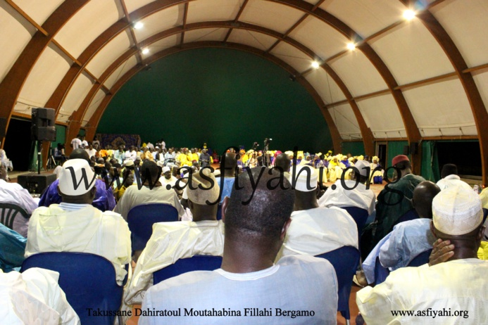 PHOTOS  - BERGAMO : Les Images de la Conférence du Dahiratoul Moutahabina Fillahi de Bergamo, présidée par Serigne Moustapha SY Abdou