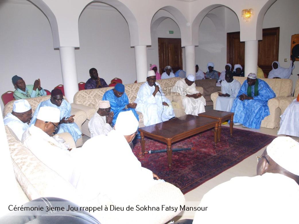 PHOTOS - Les images de la cérémonie du troisième jour du rappel à Dieu de Sokhna Fatsy Mansour