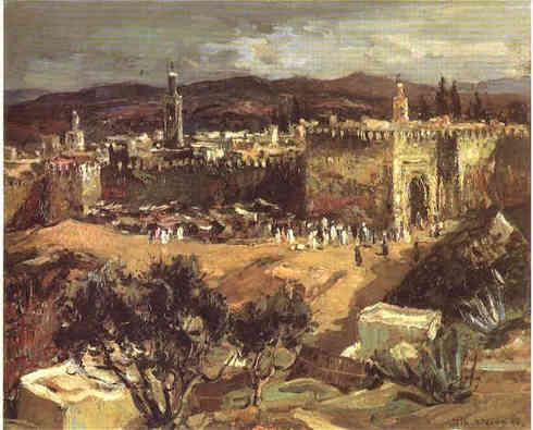 FEZ, MAROC (1954) Huile sur toile