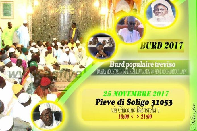 ITALIE - TREVISO : Première èdition Bourde Populaire ce samedi 25 Novembre 2017 à Pieve di Soligo
