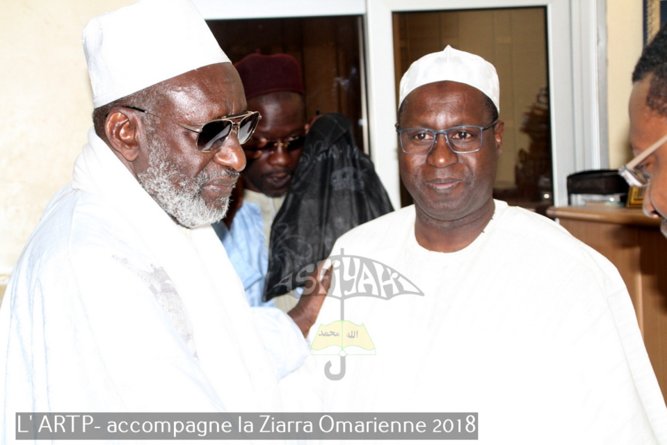 PHOTOS - VIDEO : L'ARTP accompagne la Ziarra Omarienne 2018 - Le DG Abdou Karim Sall reçu par Thierno Madani Tall