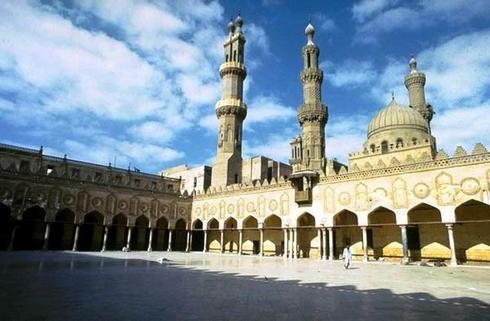 La grande mosquée d'Al-Azhar, au Caire.