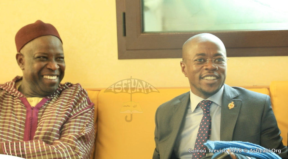 PHOTOS - GAMOU TREVISO 2018 - La délégation Gouvernementale conduite par le ministre Oumar Gueye reçue par Serigne Mansour SY Djamil et la Dahira Mouhtasimine