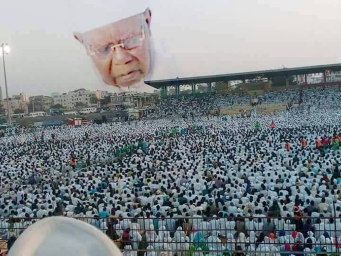 Grande Khadratoul Jummah, édition 2018, organisée par le Mouvement Abnâ'u Khadraty Tidjaniyati,  Vendredi 11 Mai 2018 au Stade Amadou Barry de Guédiawaye