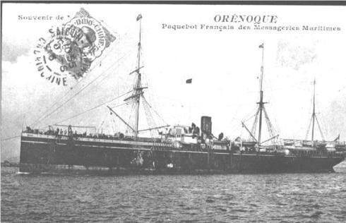 C'est ainsi qu'il effectua le voyage, prenant place dans le paquebot « PARANA », le 20 Aout 1916 en direction d'Alexandrie