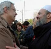 Mouhamed meniri pdt de l'association un Islam pour Tous recevant  jean courtaudire responsable pour le diocèse de St denis