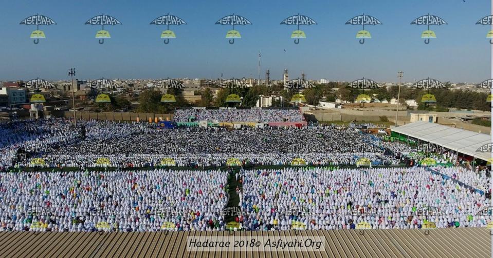 24 PHOTOS - Vue Aérienne de la Hadratoul Jumma de ce Vendredi 11 Mai au Stade Amadou Barry - La Spiritualité Tijan au coeur de Dakar