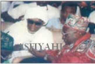 Serigne Mansour Sy et Serigne Cheikh Awa Balla Mbacké venu presenter ses condoléances lors du décès de Feu El Had Abdoul Aziz Dabakh
