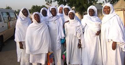 pèlerins sénégalaises en Ihrâm