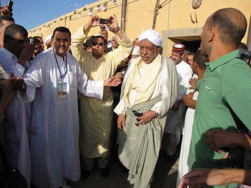 Le Khalife à son arrivée