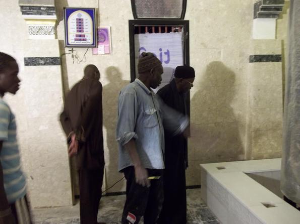 Serigne Abdou Aziz Sy Al Amine visitant les Travaux de refections