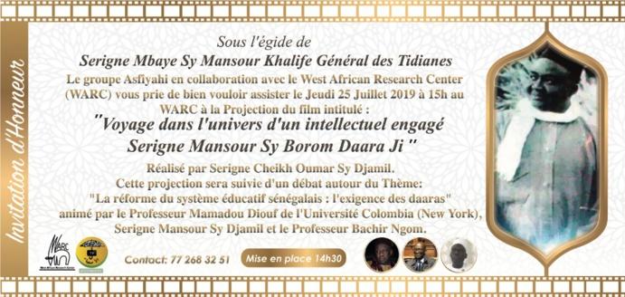 DIRECT DU WARC - Projection de Film Borom Daradji suivie d'un débat sur