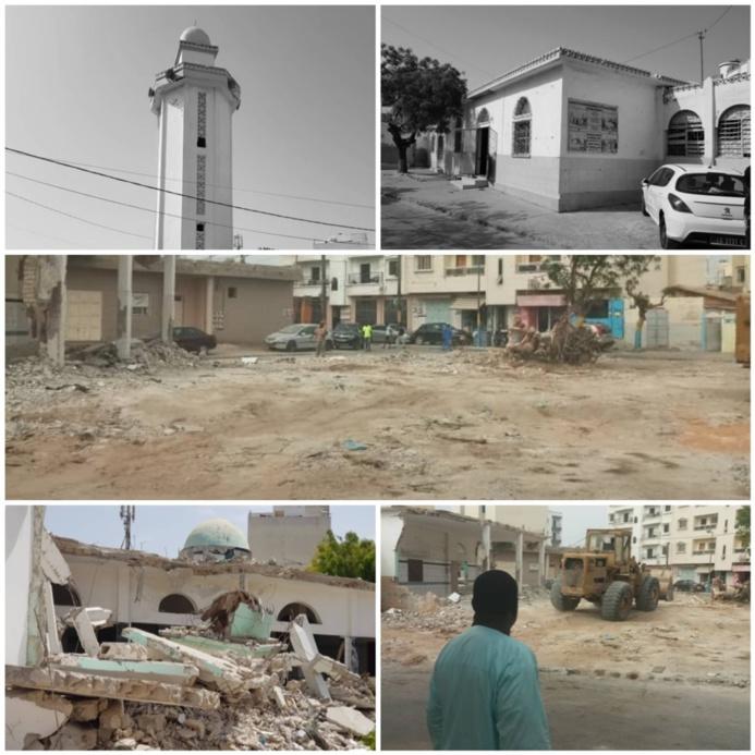 La Grande Mosquée de Fass Batiment Avant et après terrassement.