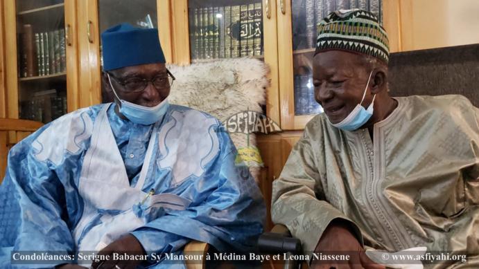 Médina Baye Niass - Condoléances: Serigne Babacar Sy Mansour à Médina Baye et Leona Niassene