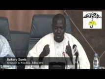 VIDEO - Intervention de Bakary Samb (Symposium du Maouloud 2013)