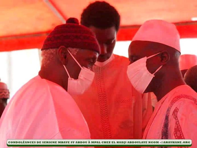Mpal : Serigne Babacar SY Abdoul Aziz a présenté les condoléances de la famille de Seydil Hadji Malick SY à la famille de Mame Rawane NGOM...