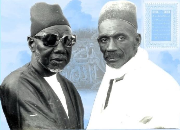 El Hadj Abdou Aziz Sy Dabakh en compagnie de El Hadj Ibou Sakho