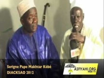 Causerie de Serigne Pape Makhtar Kébé - Hadratoul Djumah Diacksao 2012