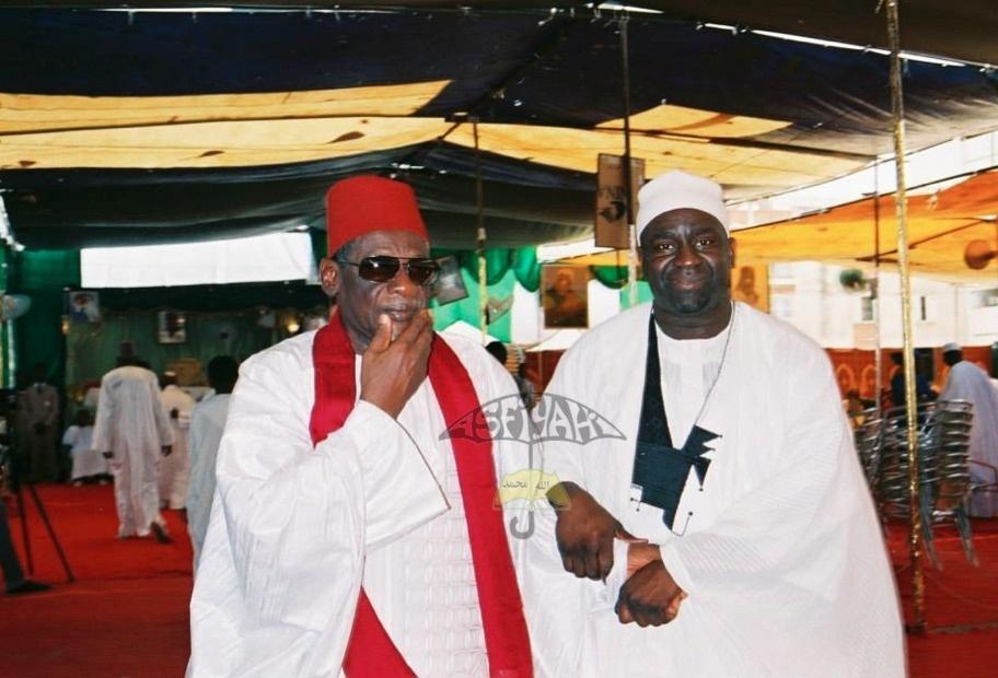El HAdj Tafsir Sakho en compagnie de Serigne Cheikh Oumar Foutiyou Tall Sy  Djamil