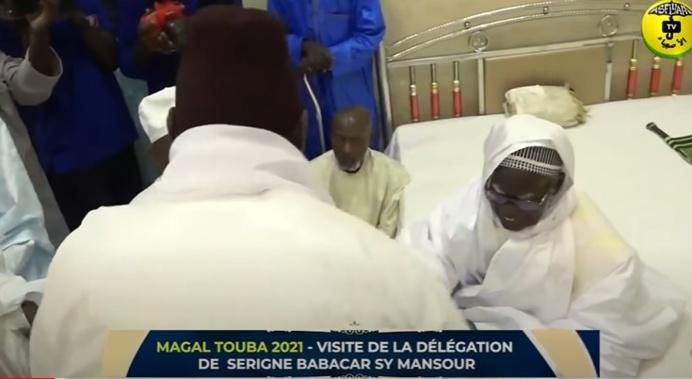MAGAL TOUBA 2021 - VISITE DE LA DÉLÉGATION DE SERIGNE BABACAR SY MANSOUR CHEZ SERIGNE MOUNTAKHA