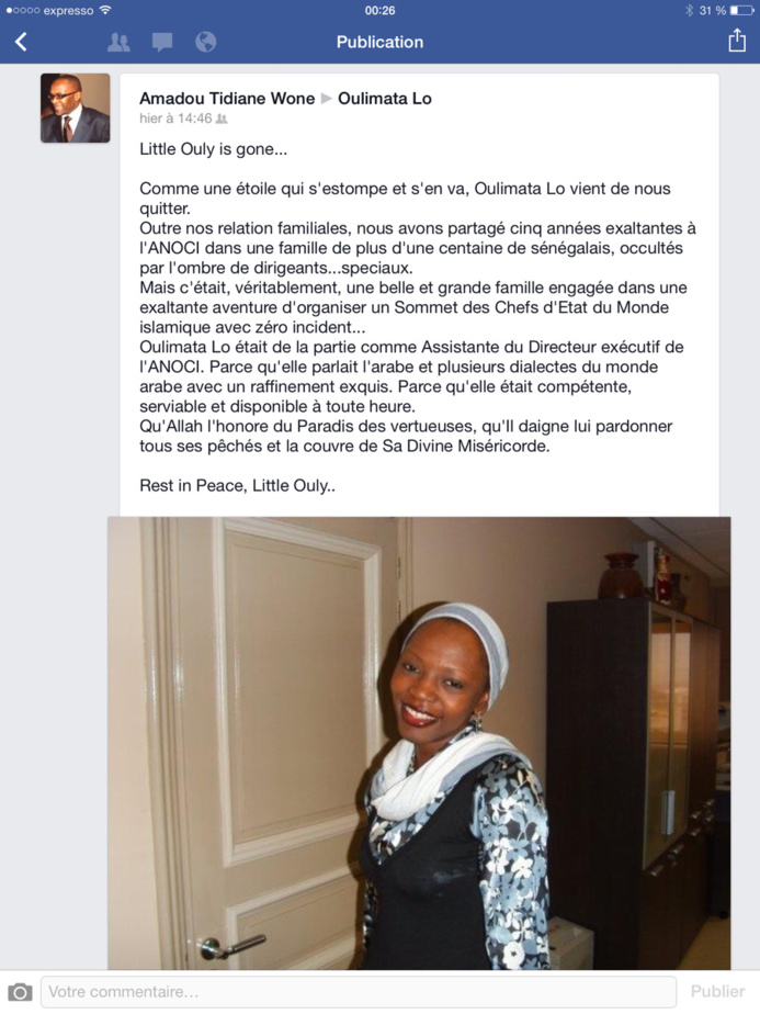 Repose en Paix Oulimata Lô! 20 Avril 2014- 20 Avril 2015, 1 an Dèjâ