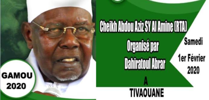 Gamou Dahira Abrar de Serigne Abdoul Aziz SY Al Amine (rta), Samedi 1er Février 2020 à Tivaouane