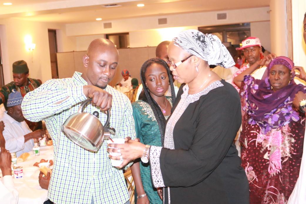 Ibrahima Seck, Mame Binta Gueye ( présidente Moukhtafina New York)