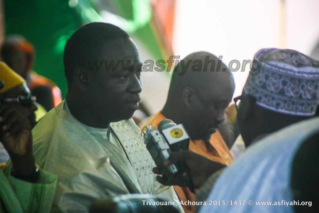 Le Maire de Tivaouane Mamadou Sy Mbengue au Micro de Oustaz Babacar Niang (Asfiyahi)