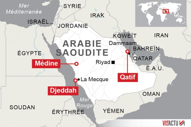 Arabie saoudite: Série coordonnée d'attentats près de la Mosquée du Prophète à Médine et à Qatif