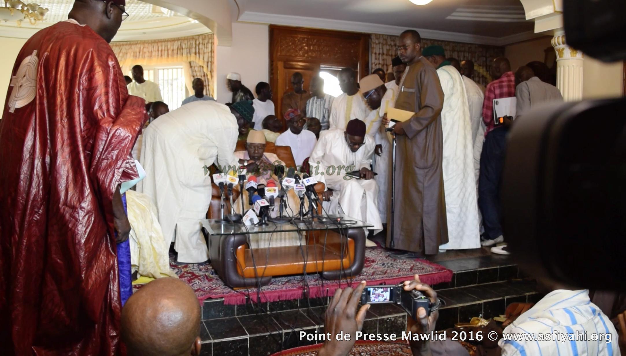PHOTOS - GAMOU TIVAOUANE 2016 - Les Images de la Conférence de Presse de Serigne Abdoul Aziz Sy Al Amine