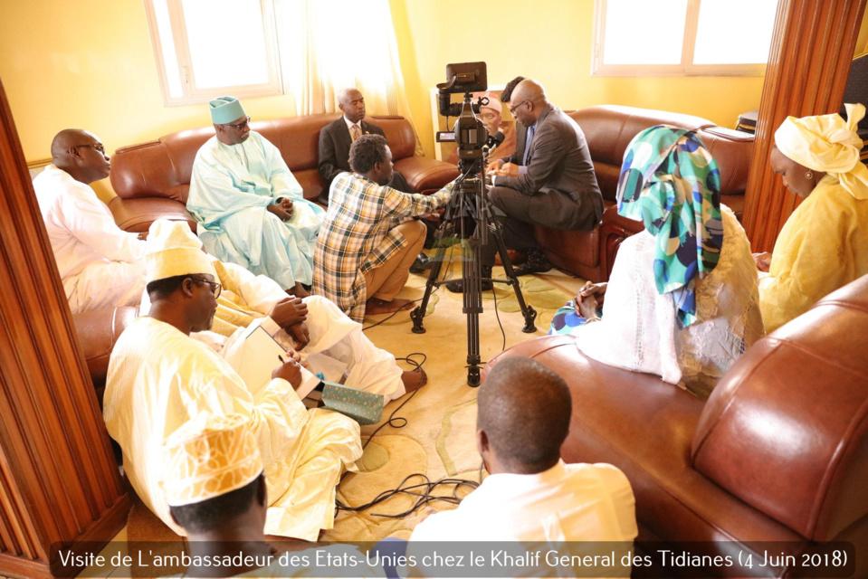 PHOTOS - L'ambassadeur des Etats-unies reçu par le Khalif Général des Tidianes Serigne Mbaye Sy Mansour: L'exception Sénégalaise, la lutte contre le Terrorisme au menu des échanges