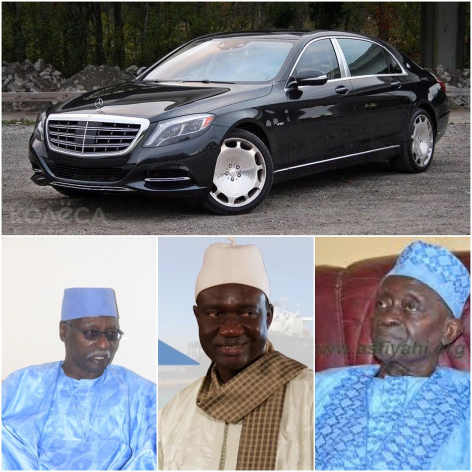 SERIGNE DJAMIL SY MANSOUR HONORE SES PÈRES: Une Mercedes S600 Maybach offerte à Serigne Mbaye Sy Mansour, une S420 à Serigne Sidy Ahmed Sy Babacar