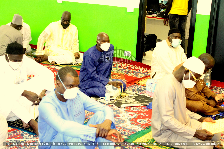 ITALIE - BERGAMO : Journée de prière à la mémoire de Serigne Pape Malick Sy, El Hadji Tafsir Sakho, Serigne Cheikh Tidiane Seck