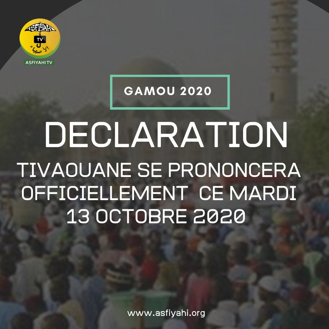 GAMOU 2020 - Tivaouane se prononcera officiellement ce Mardi 13 Octobre 2020