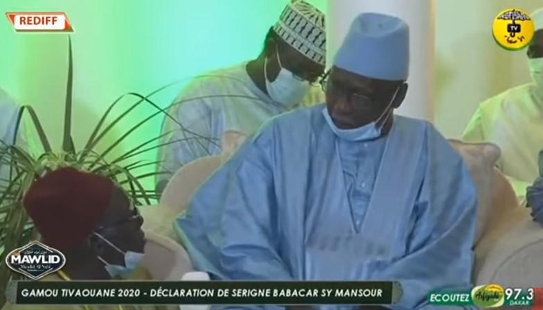 Mawlid 2020: Déclaration du Khalif Général des Tidianes Serigne Babacar Sy Mansour