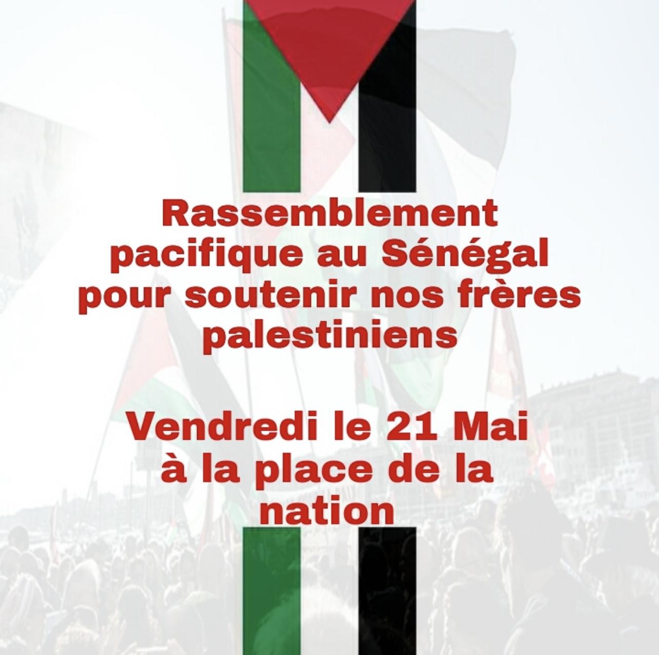 Génocide du peuple palestinien : Une marche de soutien prévue vendredi à Dakar