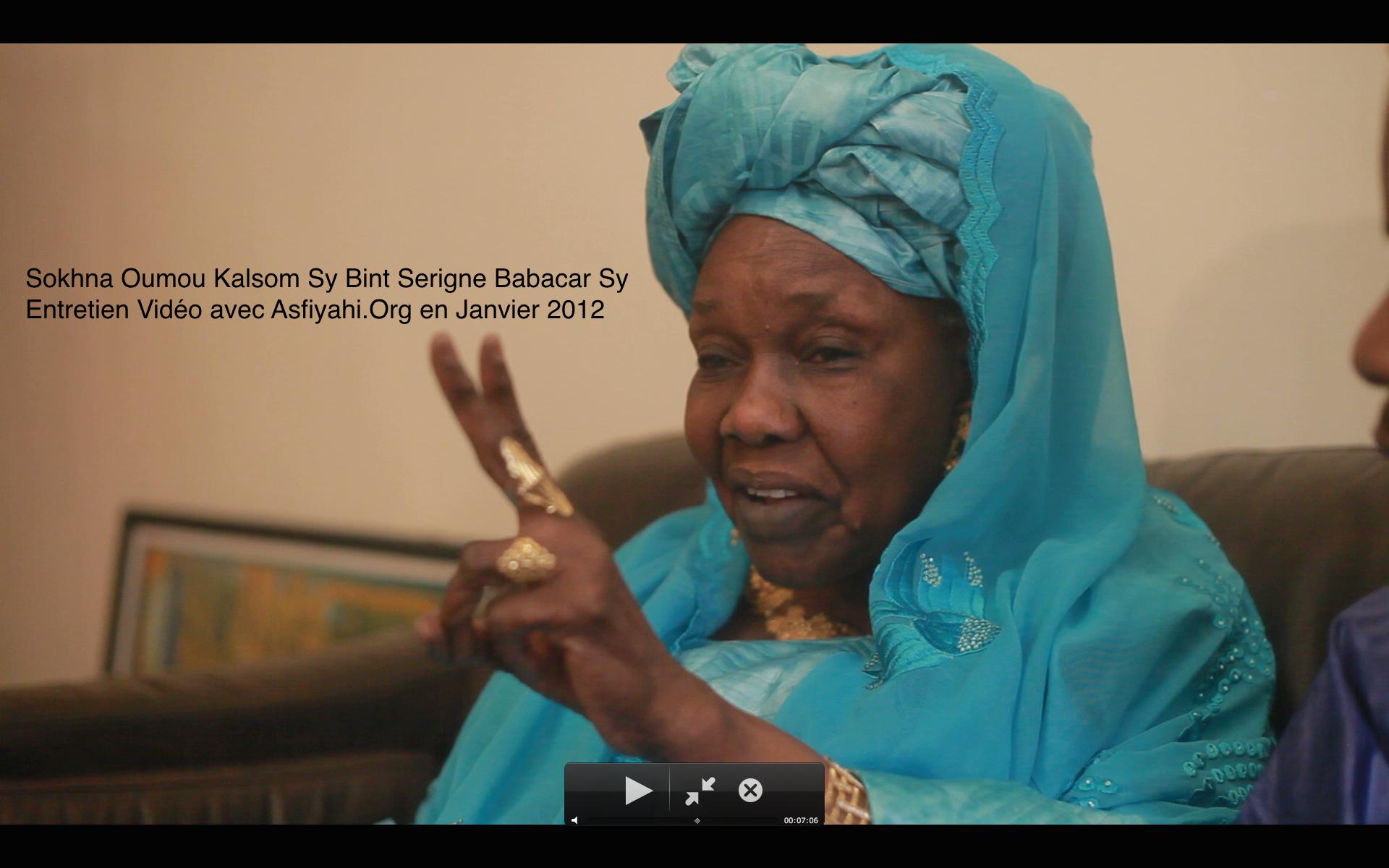 SOUVENIR - 18 Mars 2015 - 18 Mars 2019 - Sokhna Oumou Kalsoum Sy Bint Serigne Babacar Sy, cette légende racontée