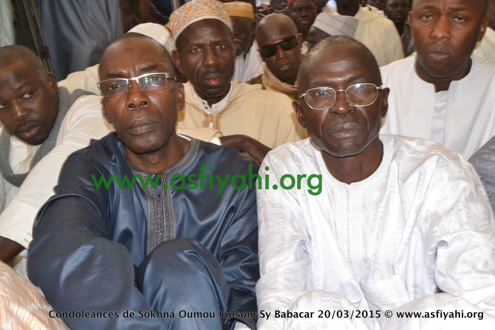 A gauche Serigne Mame Thierno Kane Ibn Sokhna Oumou Kalsoum Sy