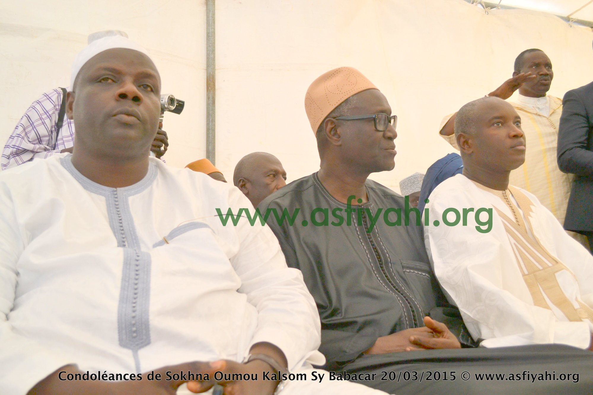 Serigne Mame Alpha Sy Dabakh , le Ministre Mansour Sy et le Ministre Aly Ngouille Ndiaye