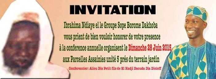 Conference Annuelle de Ibrahima Ndiaye du Groupe Sope Borom Dokhoba, Dimanche 28 Juin 2015 aux Parcelles Assainies