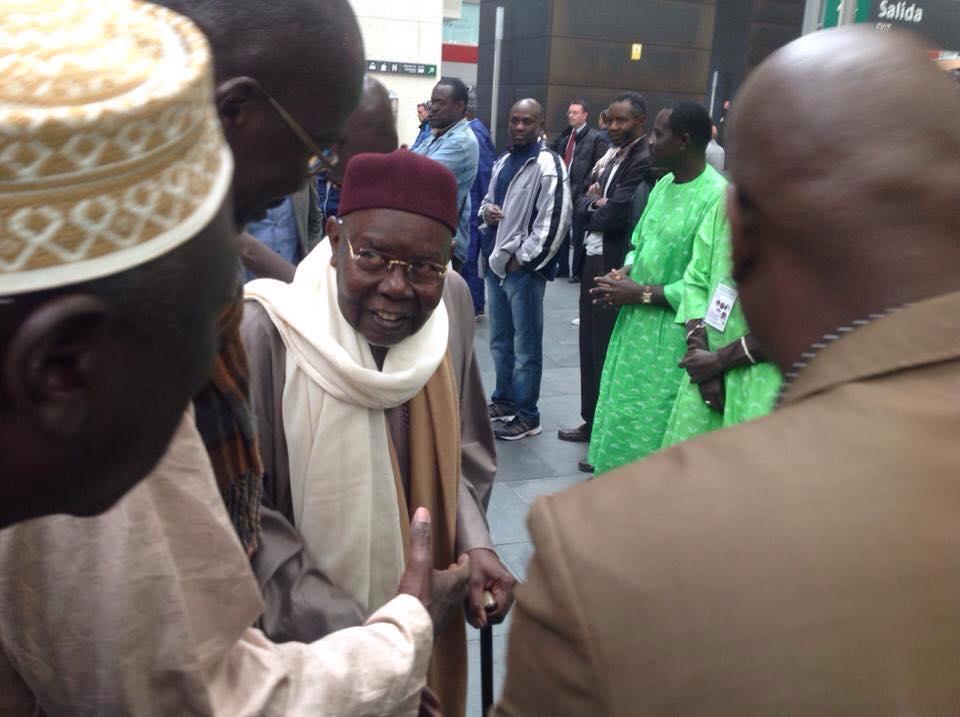 Arrivée de Serigne Abdoul Aziz Sy Al Amine en Espagne