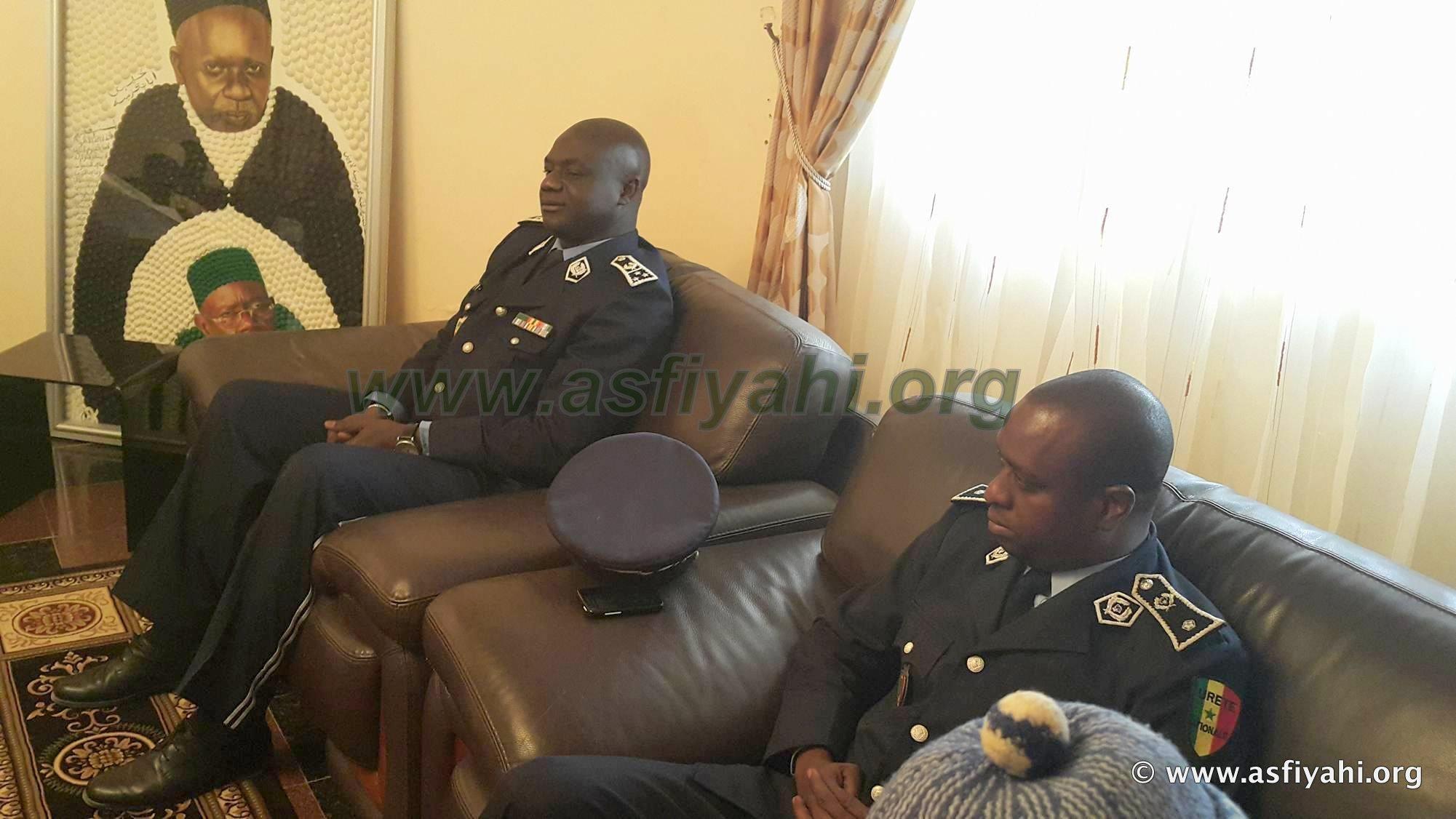 Oumar Maal, Nouveau Directeur Général de la Police Nationale reçu par Serigne Abdoul Aziz Sy Al Amine