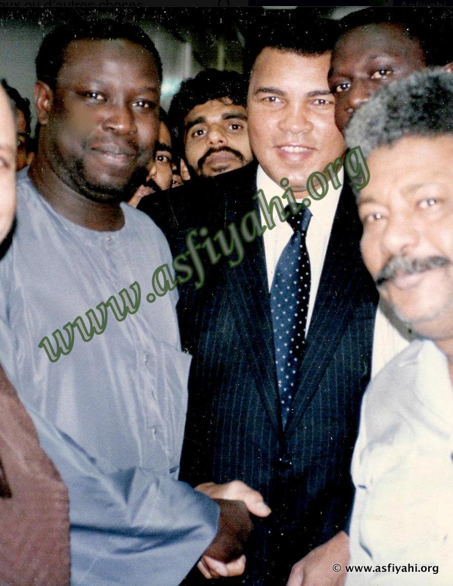 Serigne Mansour Sy Djamil en compagnie de Mouhamed Ali lors d'une visite de ce dernier à la Banque Islamique de Développement à Jeddah.