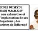 L'école de Seydil Hadj Malick: Liste non exhaustive et lieux d'implantation de ses Muqadams ; des Séminaristes de Ndiarndé