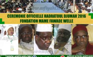 VIDEO - 12 AOÛT 2016 À PIKINE - Suivez la cérémonie Officielle de la Hadratoul Djumah organisée par la Fondation Mame  Fawade Welle