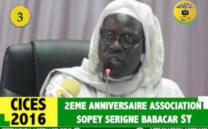VIDEO - Suivez l'anniversaire de l'association Sopey Serigne Babacar Sy, Edition 2016, présidé par Serigne Sidy Ahmed Sy Al Amine et Serigne Issa Touré. Animation : Cheikh Tidiane Mbaye