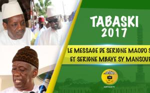 VIDEO - Tivaouane Tabaski 2017 - Suivez le Sermon de Serigne Mbaye Sy Abdou suivi du Message de Serigne Maodo Sy Dabakh et Serigne Mbaye Sy Mansour